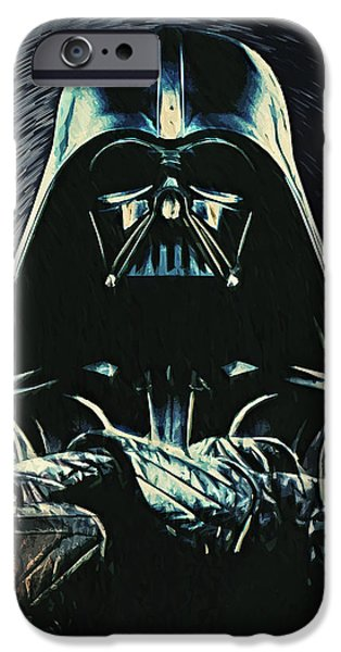 Fictional Star iPhone Cases - Darth Vader iPhone Case by Taylan Soyturk