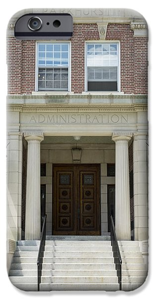 Brick Schools iPhone Cases - Dartmouth College Administration Building iPhone Case by Edward Fielding