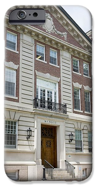 Brick Schools iPhone Cases - Dartmouth College McNutt Building iPhone Case by Edward Fielding