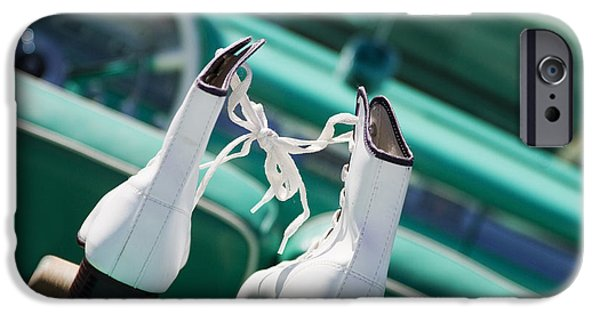 Skates iPhone Cases - Date Night iPhone Case by Rebecca Cozart