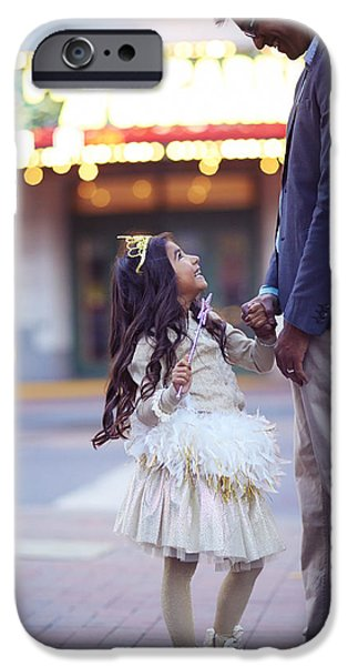 Relationship iPhone Cases - Daughter Smiling At Her Father On Urban iPhone Case by Gillham Studios