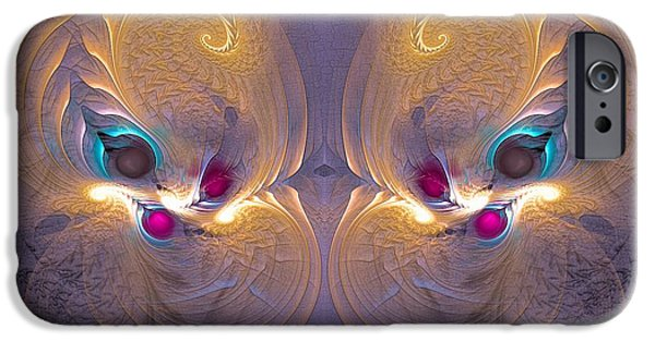Surrealism Digital Art iPhone Cases - Daughters of the sun - Surrealism iPhone Case by Sipo Liimatainen