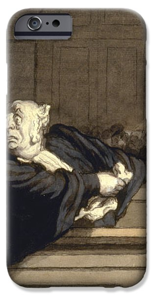 DAUMIER: ADVOCATE, 1860 iPhone Case by Granger