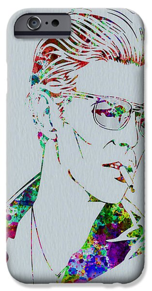 American Singer iPhone Cases - David Bowie iPhone Case by Naxart Studio