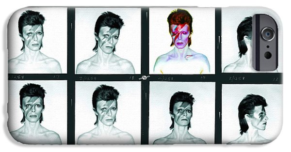 Recently Sold -  - David iPhone Cases - David Bowie Ziggy Stardust Painting 1 iPhone Case by Tony Rubino