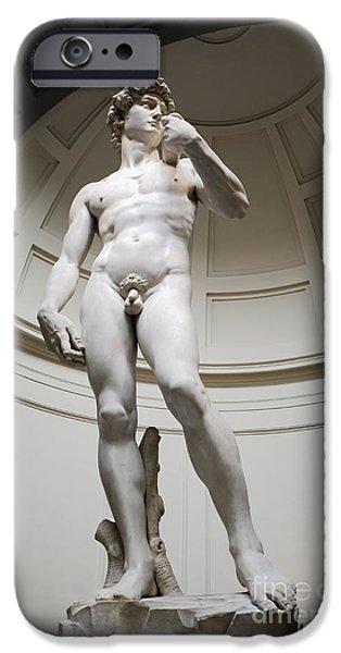 Michelangelo iPhone Cases - David by Michelangelo iPhone Case by Edward Fielding