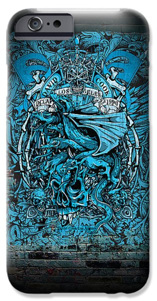 David iPhone Cases - David Cook Los Angeles Medieval Dragons iPhone Case by David Cook Los Angeles