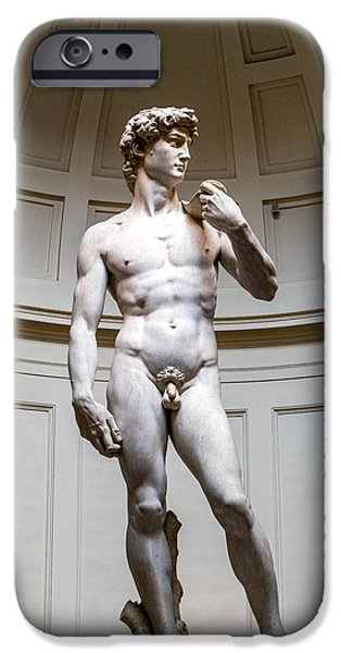 David Sculptures iPhone Cases - David of Florence iPhone Case by Terry Baldridge