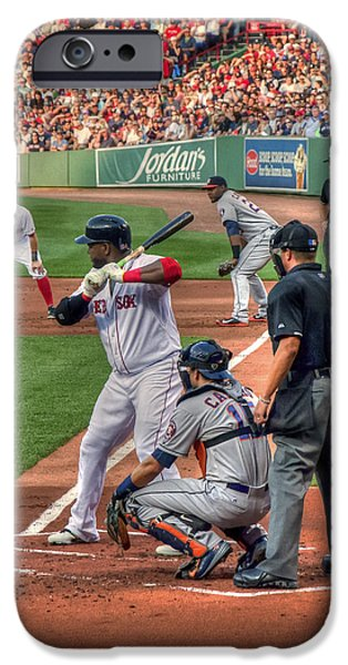 Fenway Park iPhone Cases - David Ortiz - Boston Red Sox  iPhone Case by Joann Vitali