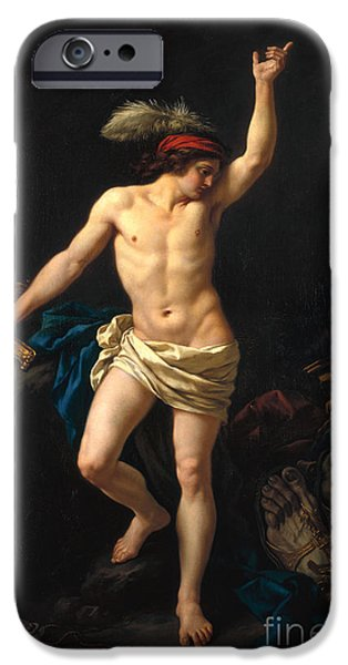 Metaphor iPhone Cases - David Victorious iPhone Case by Jean Jacques II Lagrenee