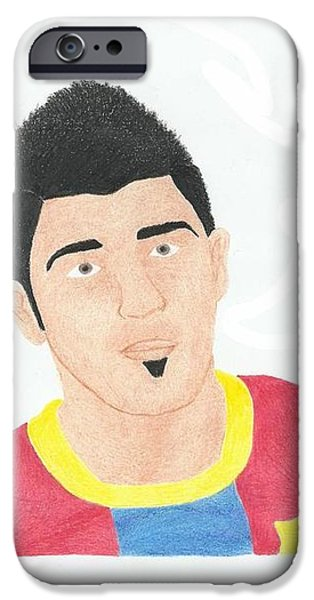 David Villa iPhone Case by Toni Jaso