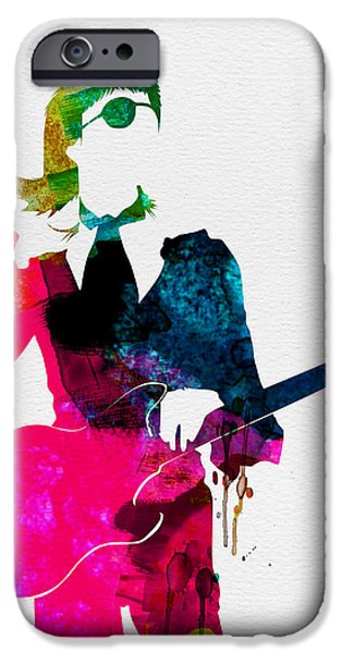 Bowie iPhone Cases - David Watercolor iPhone Case by Naxart Studio