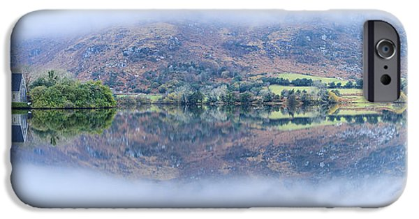 Gougane Barra Church iPhone Cases - Dawn at Gougane Barra iPhone Case by Graham Daly