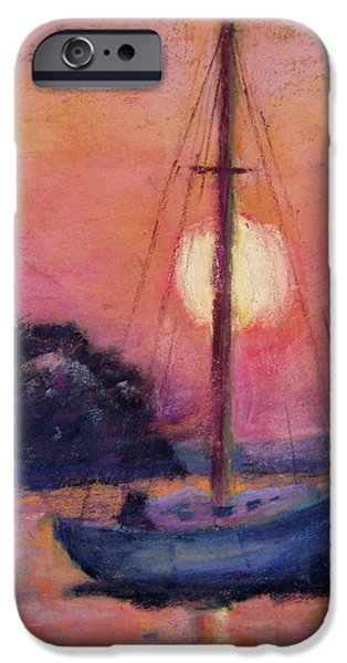 Red Rock iPhone Cases - Dawn at the Lake iPhone Case by Julia Evans