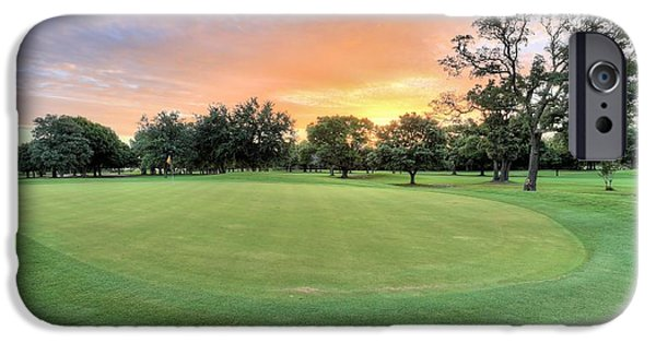 Florida Panhandle iPhone Cases - Dawn on the Putting Green iPhone Case by JC Findley