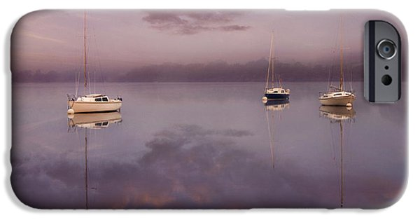 Mist iPhone Cases - Dawn Over Ullswater iPhone Case by Adrian Campfield
