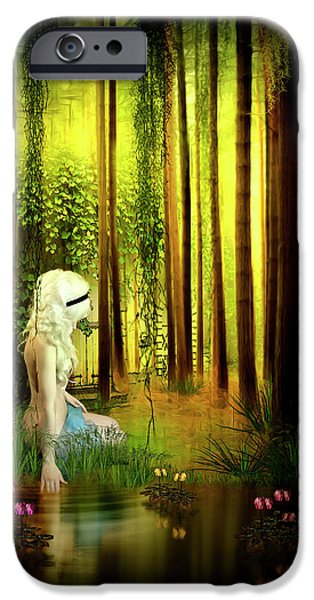 Pathway Mixed Media iPhone Cases - Dawn Refresh iPhone Case by Svetlana Sewell