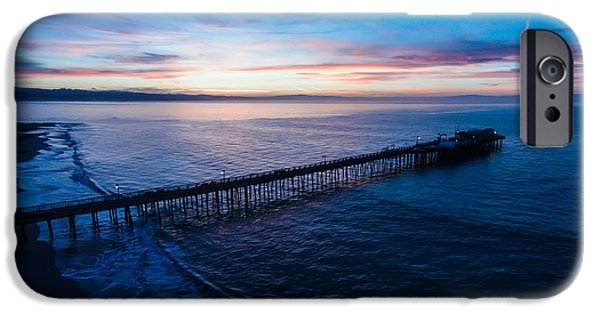 Santa Cruz Wharf iPhone Cases - Dawning of a New Day iPhone Case by David Levy