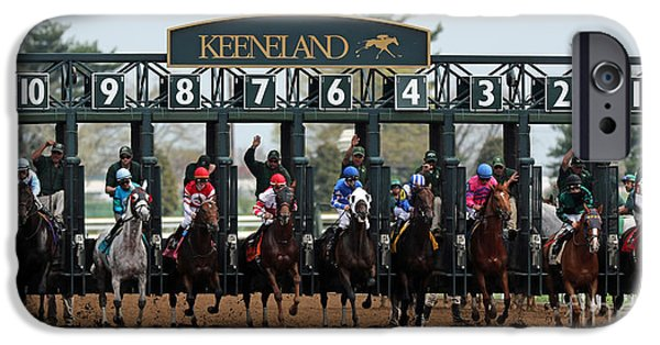 Keeneland iPhone Cases - Keeneland Race Day iPhone Case by Angela Gallagher