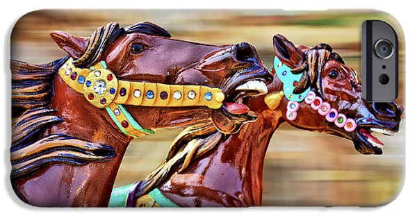Carousel iPhone Cases - Day at the Races iPhone Case by Evelina Kremsdorf