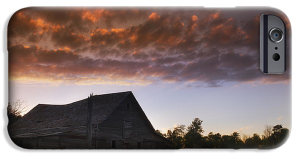 Old Barns iPhone Cases - Day is Done iPhone Case by Mitch Carlson