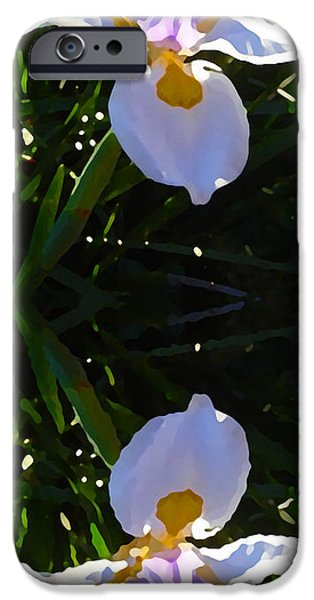 Floral Digital Art Digital Art Digital Art iPhone Cases - Day Lily Reflection iPhone Case by Amy Vangsgard