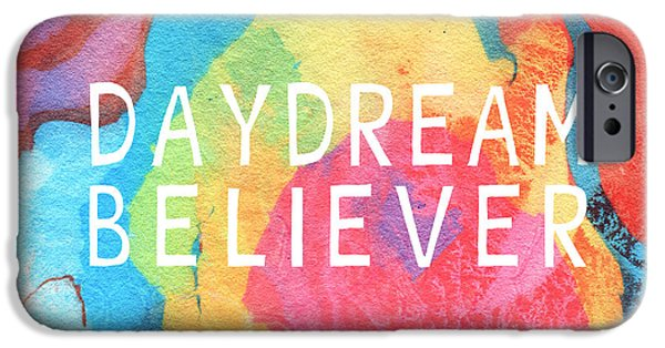 Daydream iPhone Cases - Daydream Believer- Abstract art by Linda Woods iPhone Case by Linda Woods
