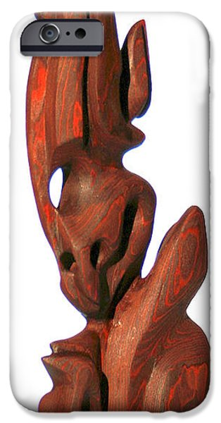 Meditation Sculptures iPhone Cases - Daydreaming iPhone Case by Raf Podowski