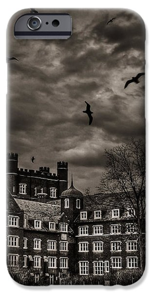Daydreams Darken Into Nightmares iPhone Case by Evelina Kremsdorf