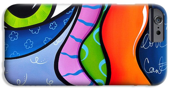 Abstract Pop Drawings iPhone Cases - Daylight iPhone Case by Tom Fedro - Fidostudio