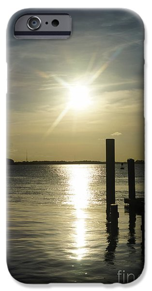 United States iPhone Cases - Days End at Cooper River iPhone Case by Jennifer White
