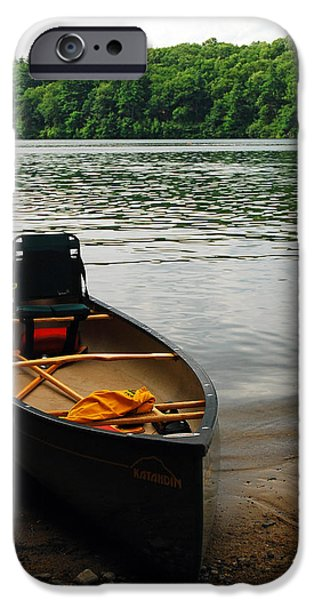 Walden Pond iPhone Cases - Days End  iPhone Case by James Kirkikis
