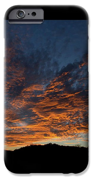 Greeting Cards Pyrography iPhone Cases - Days Glorious Ending iPhone Case by Karen Musick