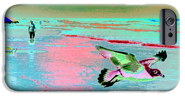 Abstract Seascape iPhone Cases - Daytona Dreamscape 1 iPhone Case by Elyza Rodriguez