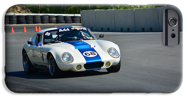 Stp iPhone Cases - Daytona Shelby Cobra Replica iPhone Case by Mike Martin