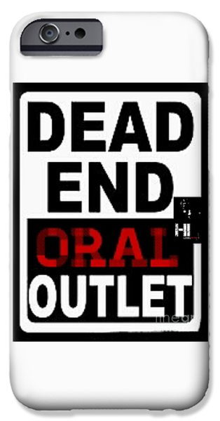 Cities Tapestries - Textiles iPhone Cases - Dead end Oral outlet iPhone Case by HI Level