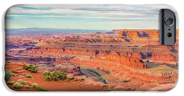 David iPhone Cases - Dead Horse Point Panorama iPhone Case by David Cote