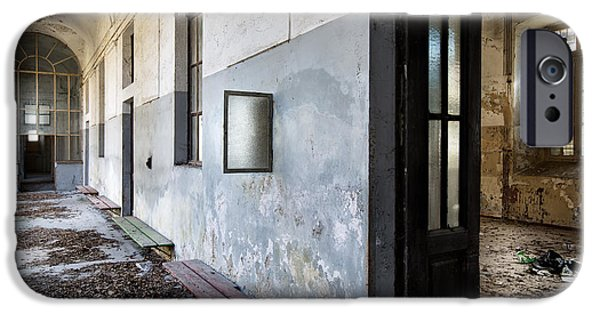 Buildings iPhone Cases - Dead Leaves At The Monastery - Ruban Exploration iPhone Case by Dirk Ercken