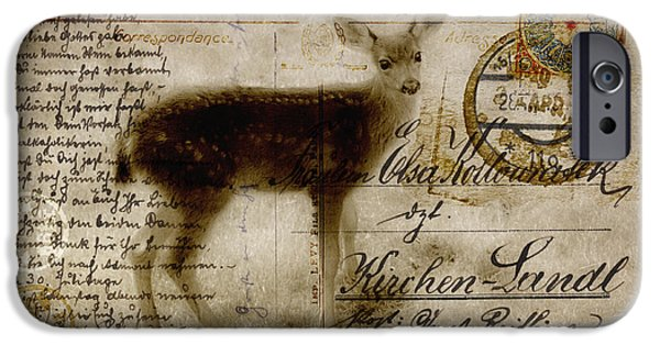 Postcard iPhone Cases - Dear Deer iPhone Case by Carol Leigh