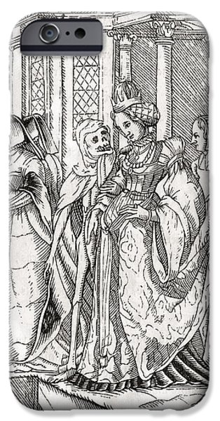 Switzerland Drawings iPhone Cases - Death Comes For The Empress After Hans iPhone Case by Ken Welsh