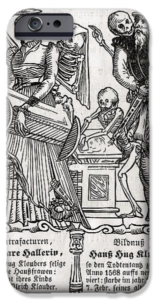 Switzerland Drawings iPhone Cases - Death Comes For The Painter From Der iPhone Case by Ken Welsh