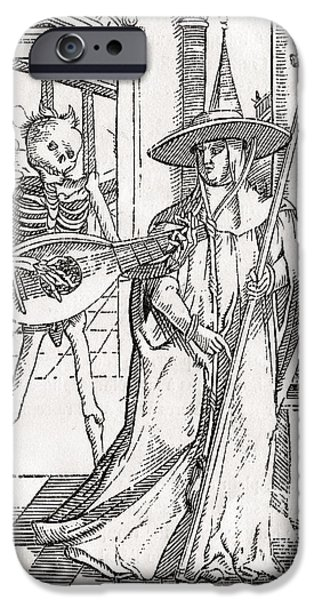 Switzerland Drawings iPhone Cases - Death Comes To The Cardinal From Der iPhone Case by Ken Welsh