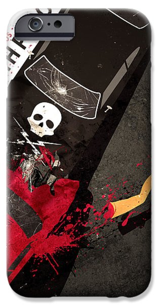 Death Proof iPhone Cases - Death Proof Quentin Tarantino Movie Poster iPhone Case by Lautstarke Studio