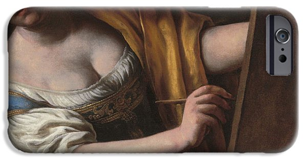 Allegory iPhone Cases - Deatil of an Allegory of painting iPhone Case by Alessandro Turchi