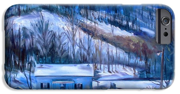 Wintertime iPhone Cases - Debbies Homeplace iPhone Case by Donna Tuten
