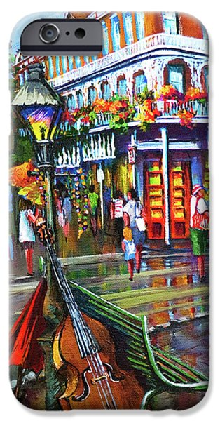 French Quarter Paintings iPhone Cases - Decatur Street iPhone Case by Dianne Parks