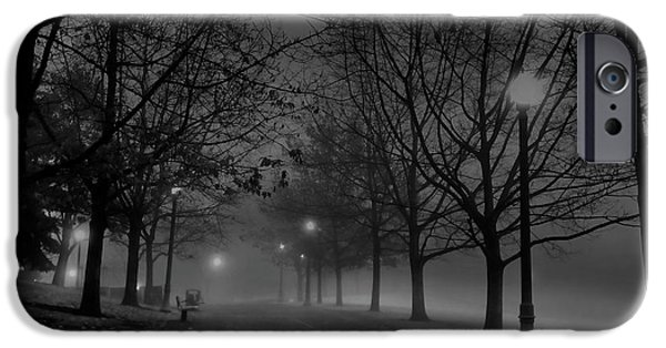 Night Lamp iPhone Cases - DECEMBER MORNING in RIVERFRONT PARK - SPOKANE WASHINGTON iPhone Case by Daniel Hagerman