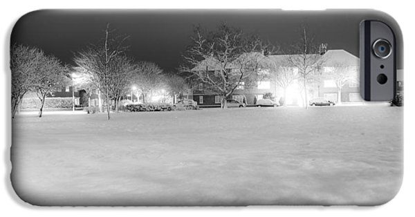 Snowy Night iPhone Cases - December Time iPhone Case by Svetlana Sewell
