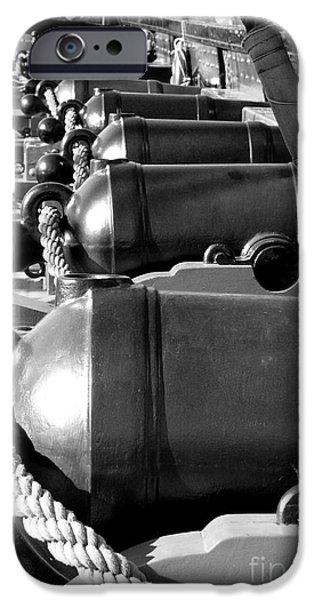 Constitution iPhone Cases - Deck Guns iPhone Case by Mark Grayden