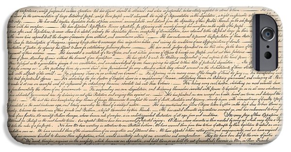 4th July Paintings iPhone Cases - Declarations of Independence iPhone Case by Declarations of Independence